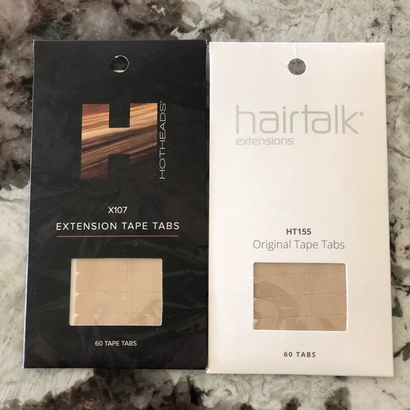 Other - NEW Hotheads Hairtalk 60pc Tape Hair Extensions